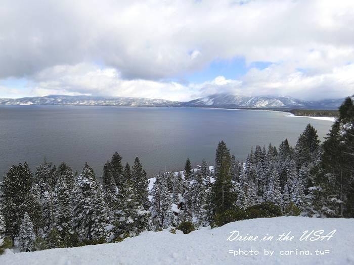 ▌美西自駕景點 ▌早安太浩湖!! 迎接美國第一道雪。太浩湖渡假村廣場『Heavenly Gondola纜車』