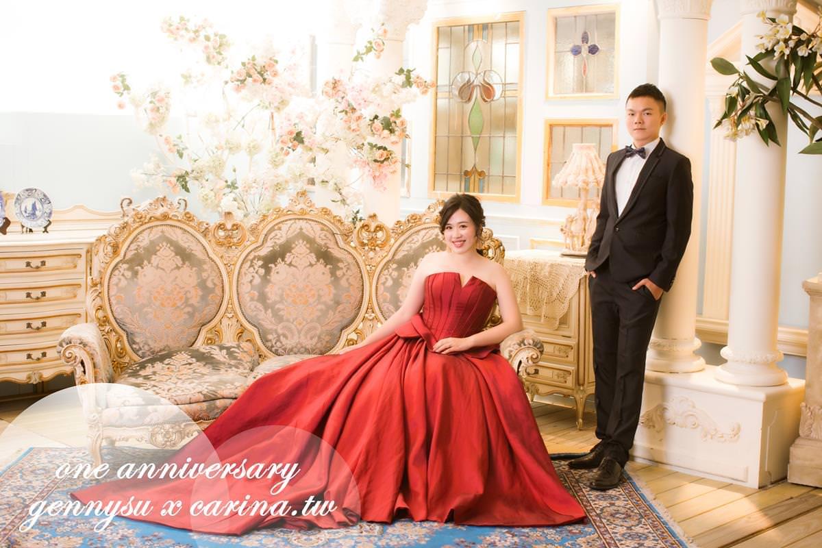 My Wedding 回娘家『gennysu珍琳蘇新概念婚紗Mall』拍攝結婚一週年紀念照